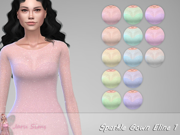 Sims 4 Sparkle Gown Eline 1 by Jaru Sims at TSR