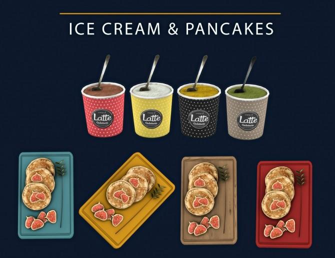 Sims 4 Ice Cream & Pancakes (P) at Leo Sims