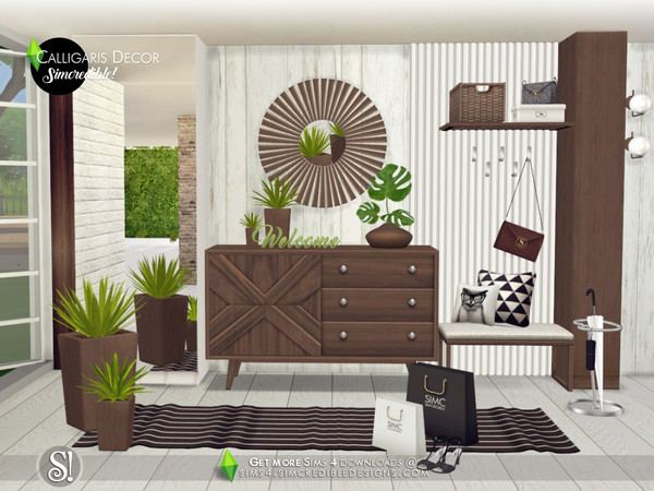 Calligaris hallway decor by SIMcredible at TSR image 1032 Sims 4 Updates