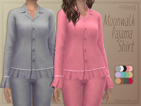 Moonwalk Pajama Shirt by Trillyke at TSR image 1034 Sims 4 Updates