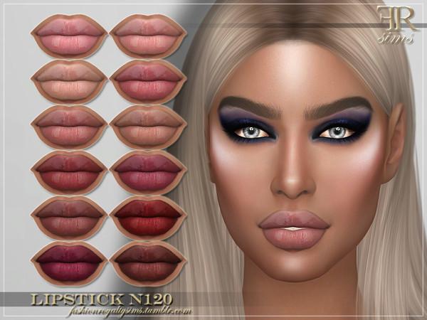 Sims 4 FRS Lipstick N120 by FashionRoyaltySims at TSR