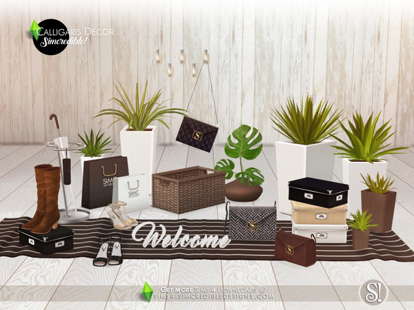 Calligaris hallway decor by SIMcredible at TSR image 1043 Sims 4 Updates