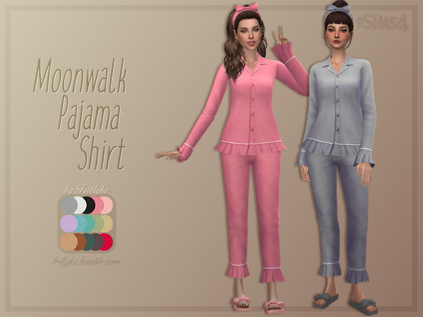 Moonwalk Pajama Shirt by Trillyke at TSR image 1045 Sims 4 Updates