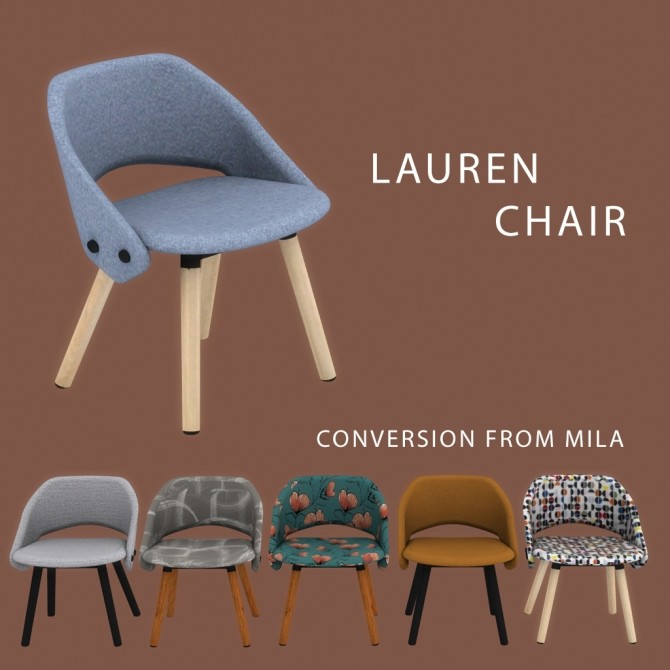 Sims 4 Lauren Chair at Leo Sims