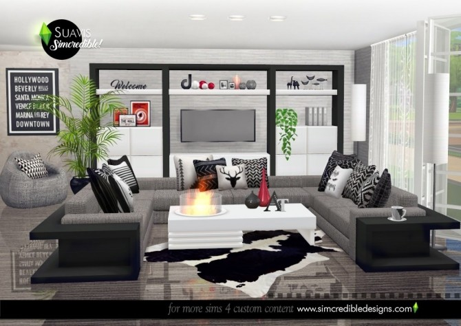 Suavis living room at SIMcredible! Designs 4 image 10513 670x474 Sims 4 Updates