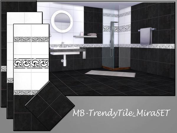 Sims 4 MB Trendy Tile Mira SET by matomibotaki at TSR