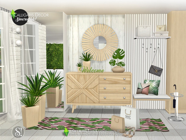 Calligaris hallway decor by SIMcredible at TSR image 1053 Sims 4 Updates