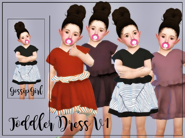 Sims 4 Toddler Dress V1 by GossipGirl at TSR