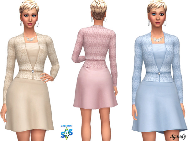 Sims 4 Dress 20191013 by dgandy at TSR