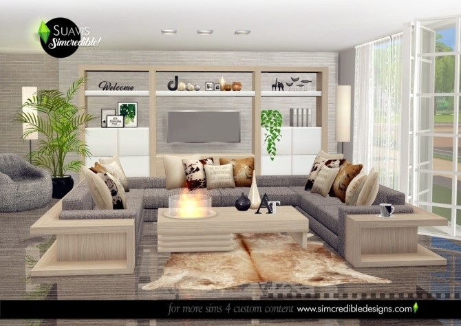 Suavis living room at SIMcredible! Designs 4 image 10614 670x474 Sims 4 Updates