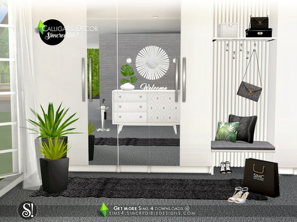 Calligaris hallway decor by SIMcredible at TSR image 1062 Sims 4 Updates