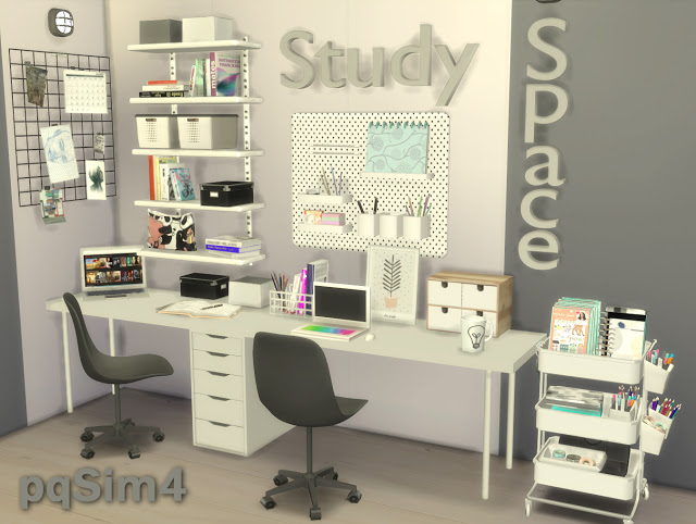 Sims 4 Study Space at pqSims4