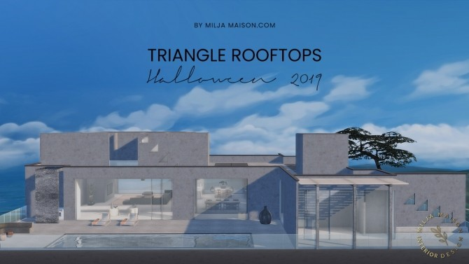 TRIANGLE ROOFTOPS HOUSE at Milja Maison image 107 670x377 Sims 4 Updates