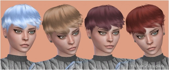 Hair 26 (P) at All by Glaza image 10711 670x280 Sims 4 Updates