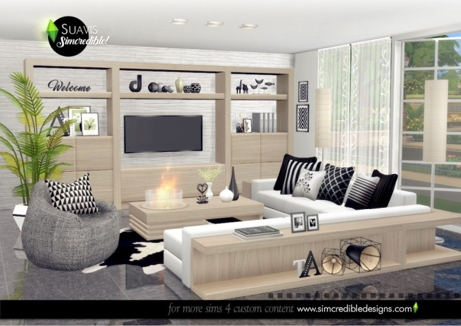Suavis living room at SIMcredible! Designs 4 image 10715 670x474 Sims 4 Updates