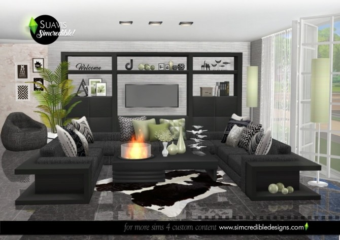 Suavis living room at SIMcredible! Designs 4 image 10814 670x474 Sims 4 Updates