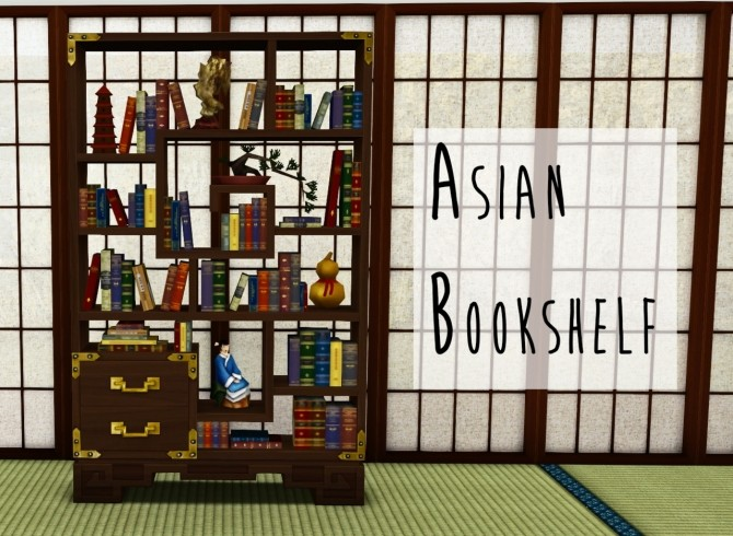Asian Bookshelf at Teanmoon image 1091 670x490 Sims 4 Updates