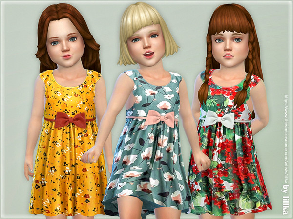 Sims 4 Toddler Dresses Collection P119 by lillka at TSR