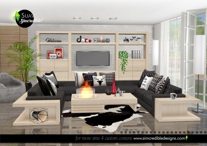 Suavis living room at SIMcredible! Designs 4 image 10915 670x474 Sims 4 Updates