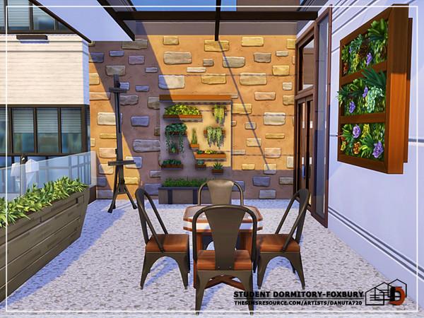Sims 4 Student dormitory Foxbury by Danuta720 at TSR