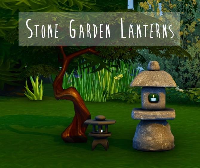 Sims 4 Stone Garden Lanterns at Teanmoon