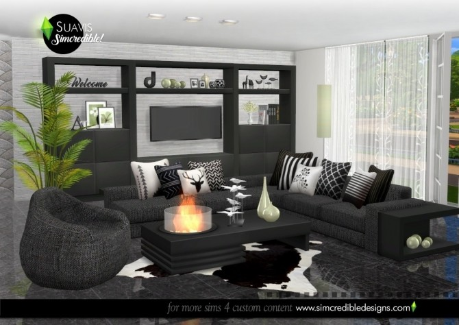 Suavis living room at SIMcredible! Designs 4 image 11019 670x474 Sims 4 Updates