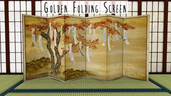 Golden Folding Screen at Teanmoon image 1112 670x377 Sims 4 Updates