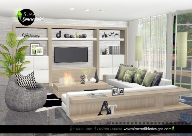 Suavis living room at SIMcredible! Designs 4 image 11120 670x474 Sims 4 Updates