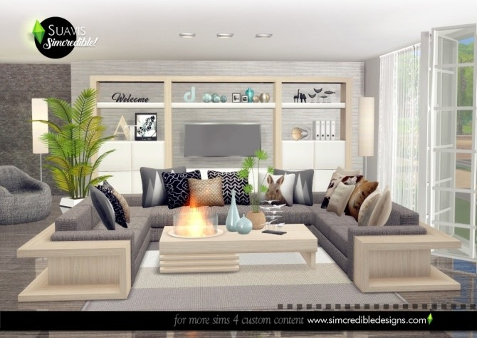Suavis living room at SIMcredible! Designs 4 image 11217 670x474 Sims 4 Updates