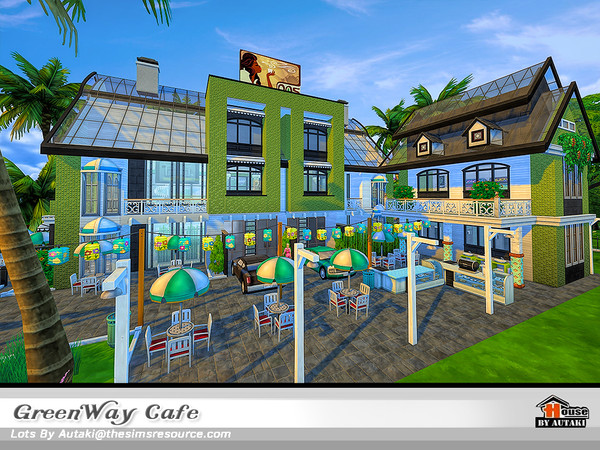 GreenWay Cafe by autaki at TSR image 11221 Sims 4 Updates