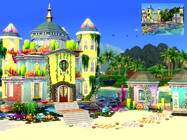 Mermaid Castle by Mini Simmer at TSR image 1126 Sims 4 Updates