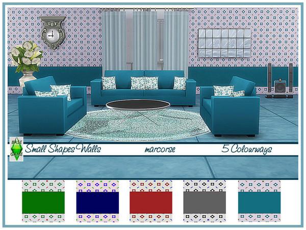 Sims 4 Small Shapes Walls by marcorse at TSR