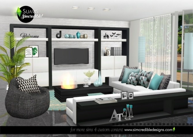 Suavis living room at SIMcredible! Designs 4 image 11316 670x474 Sims 4 Updates