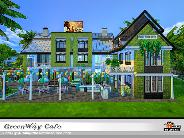 Sims 4 GreenWay Cafe by autaki at TSR
