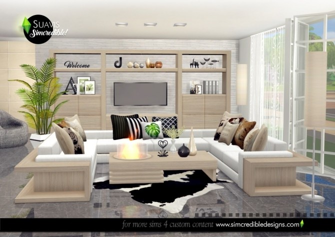 Suavis living room at SIMcredible! Designs 4 image 11415 670x474 Sims 4 Updates