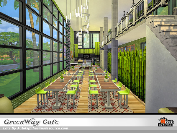 GreenWay Cafe by autaki at TSR image 11419 Sims 4 Updates