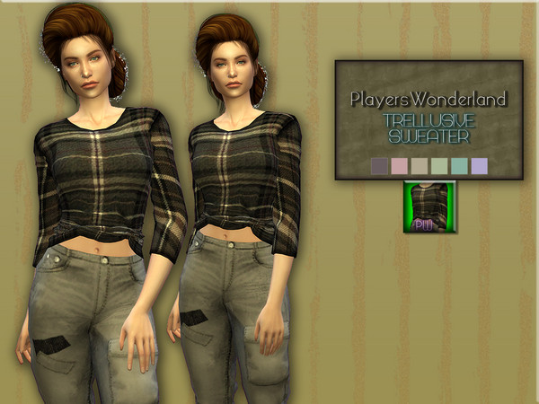 Sims 4 Trellusive Sweater by PlayersWonderland at TSR