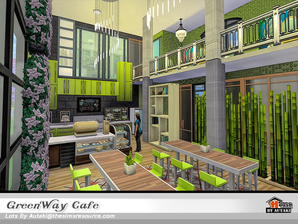 GreenWay Cafe by autaki at TSR image 11519 Sims 4 Updates