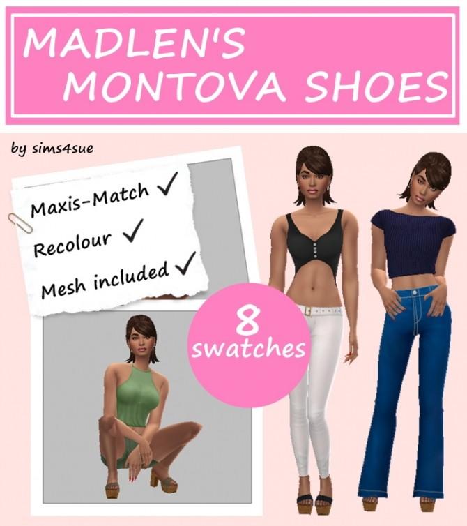 Sims 4 MADLEN'S MANTOVA SHOES at Sims4Sue