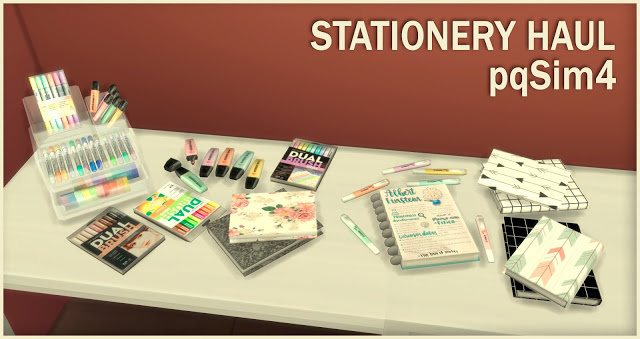Stationery Haul at pqSims4 image 1159 Sims 4 Updates