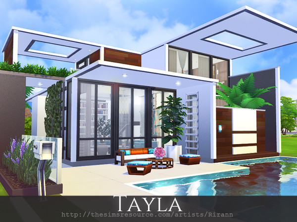 Sims 4 Tayla home by Rirann at TSR