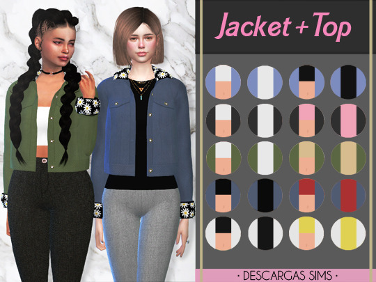 Jacket + Top at Descargas Sims image 1179 Sims 4 Updates