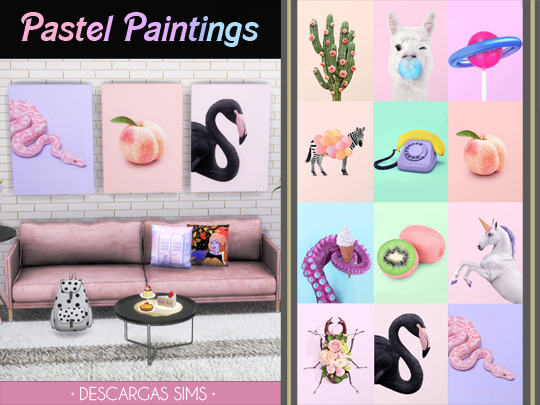 Sims 4 Pastel Paintings at Descargas Sims