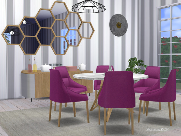Sims 4 Dining Rose by ShinoKCR at TSR