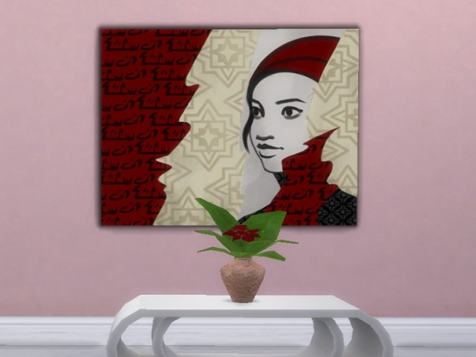 Sims 4 Poinsettia table flower at Trudie55