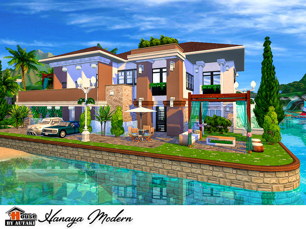 Sims 4 Hanaya Modern house by autaki at TSR