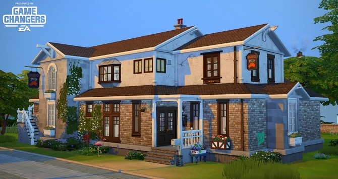 Sims 4 Au Fringant Destrier house by Rope at Simsontherope