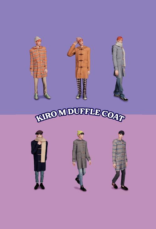 Sims 4 Duffle coat M at Kiro