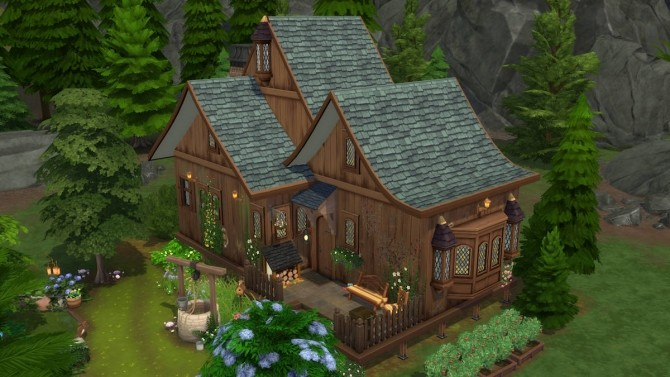 Sims 4 The Swamp House no CC by Caradriel at Mod The Sims