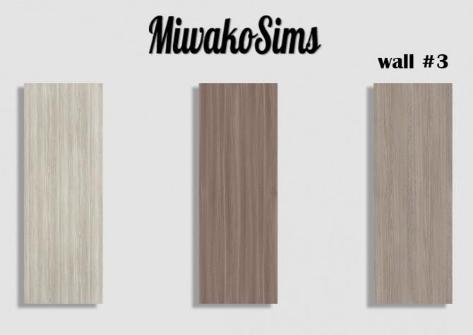 Sims 4 Collection #3 walls at MiwakoSims